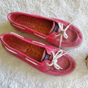 Girls SPERRY TOP-SIDER 226415 Pink Shimmer Leather